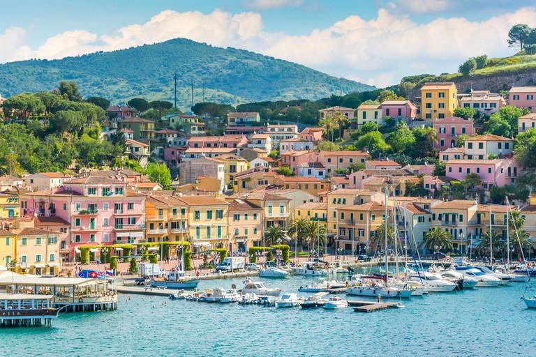 Porto Azzurro in Elba Island, Tuscany.