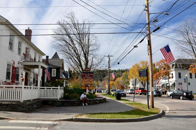 Main Street, Stowe, New England, Vermont, USA