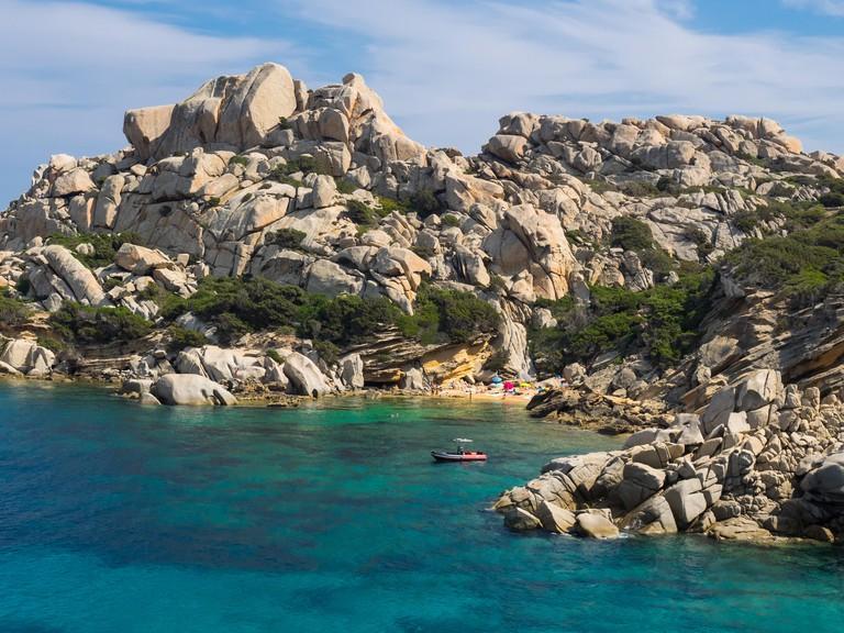 hidden beach at Capo Testa, Sardinia