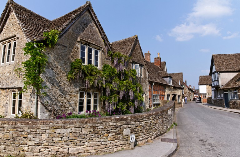 Houses in Lacock village, Wiltshire, England