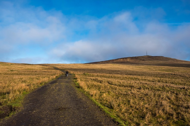 View of Divis and the Black Mountain, National Trust, Belfast, Northern Ireland