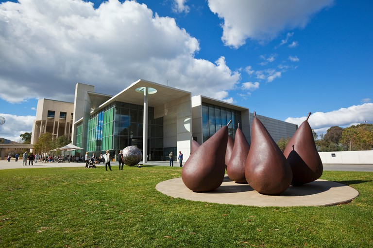 Pears sculpture by George Baldessin at the National Gallery of Australia. Canberra, Australian Capital Territory, Australia. Image shot 04/2011. Exact date unknown.