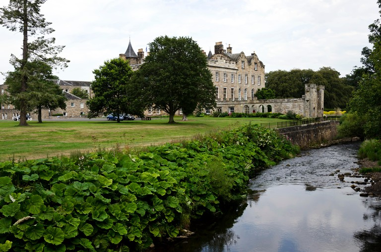Newbattle Abbey, now a further education college, near Dalkeith, Scotland.
