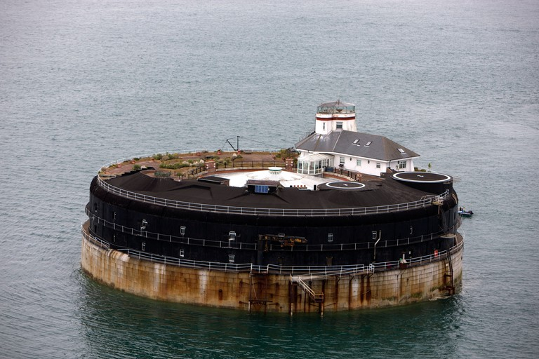 United Kingdom, Wight Island, Solent, No Man's Land Fort was built between 1867 and 1880 to protect Portsmouth