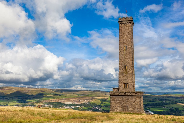 The Peel tower at Holcombe in Lancashire. Commemorates Sir Robert Peel one time Prime Minister of Great Britain.