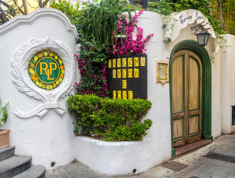 Taverna Anema e core, ornate vintage buildings capri italy  island of capri isle of capri