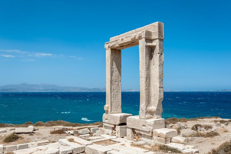 Portara of Naxos, famous landmark of greece
