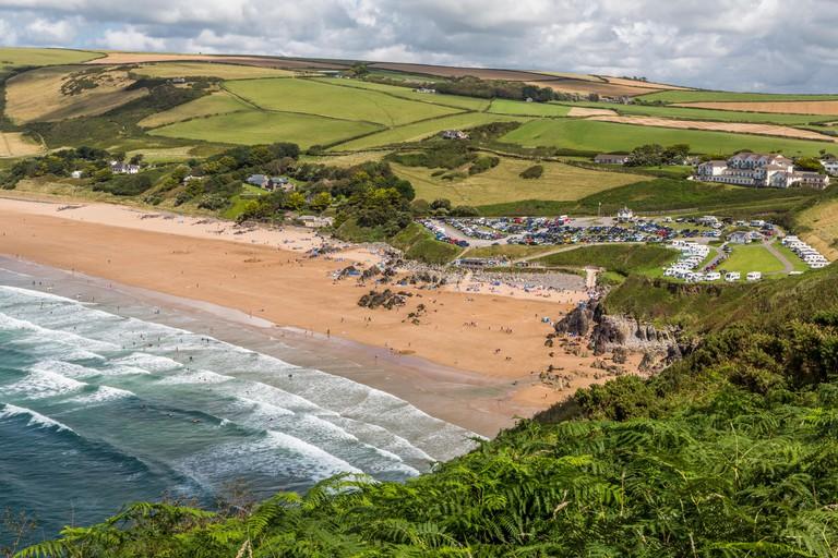 Putsborough beach in North Devon, England UK
