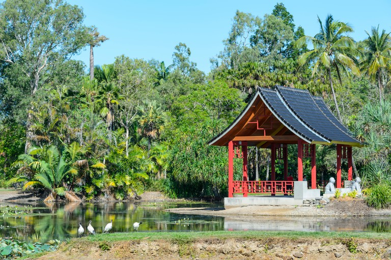 Zhanjiang Chinese Friendship Pavilion in Cairns Botanic Gardens, Edge Hill, Far North Queensland, FNQ, QLD, Australia