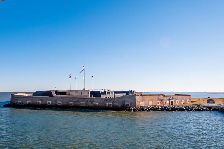 Historic Fort Sumter National Monument, Charleston, South Carolina.