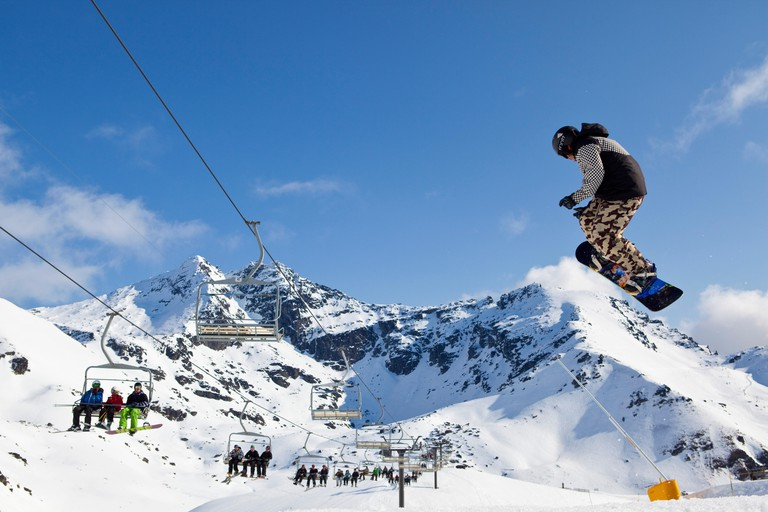 The Remarkables ski field, Queenstown, Central Otago, South Island, New Zealand