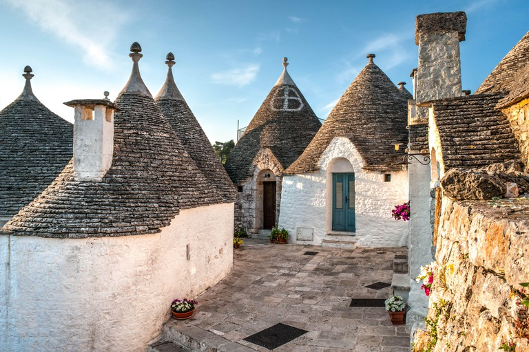 View of Trulli houses in Alberobello, Italy