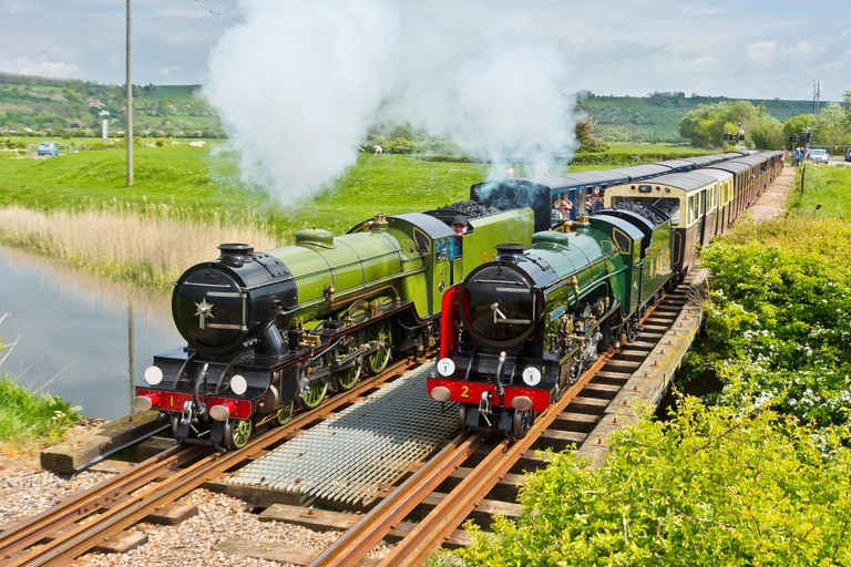 "Romney Hythe and Dymchurch railway. A 15"" gauge miniature railway in Kent UK."