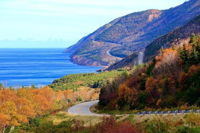 The Cabot Trail in Cape Breton, Nova Scotia
