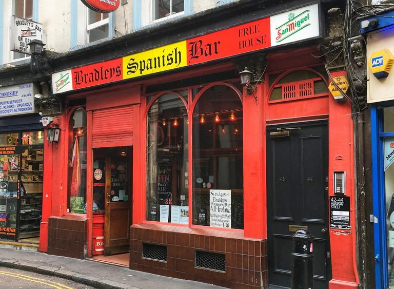 Bradley?s Spanish Bar 42-44 Hanway Street, London, England, United Kingdom.