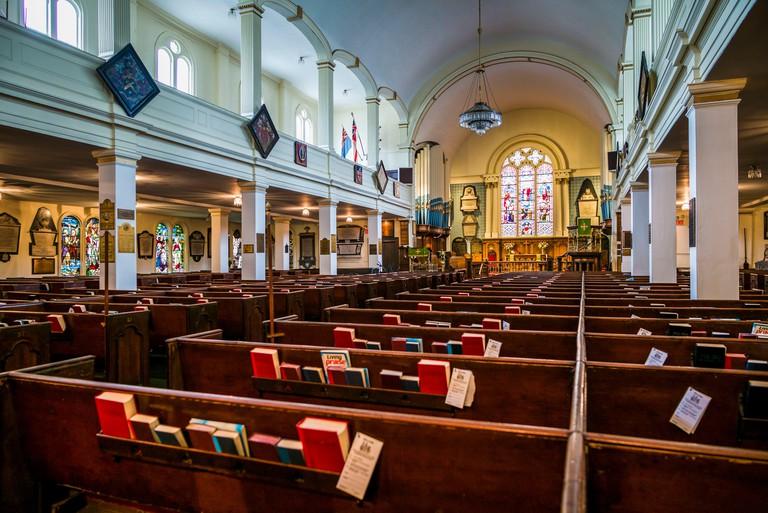 Canada, Nova Scotia, Halifax, St. Paul's Anglican Chruch, b. 1749, interior