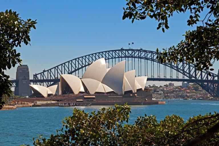 Sydney Harbour Opera House and Bridge NSW Australia
