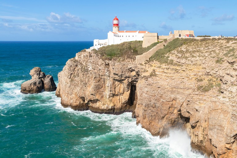 Cape St Vincent Lighthouse Cape St Vincent Sagres Portugal Algarve Portugal EU Europe