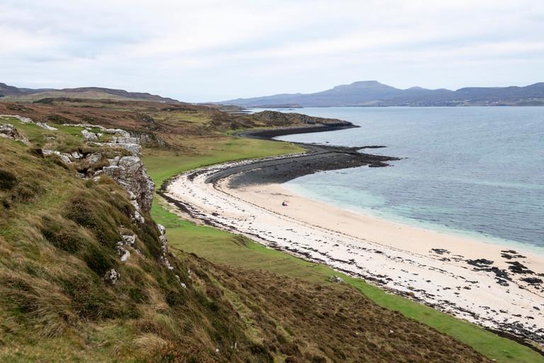 Coral Beach at Claigan on Loch Dunvegan on Isle of Skye, Highland Region, Scotland, UK
