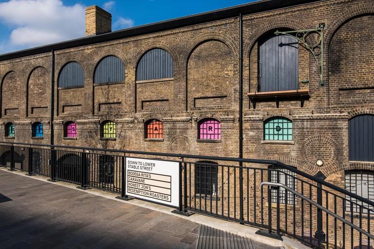 Coal Drop's Yard a new retail quarter, part of the King's Cross regeneration project, King's Cross, London, England, U.K.