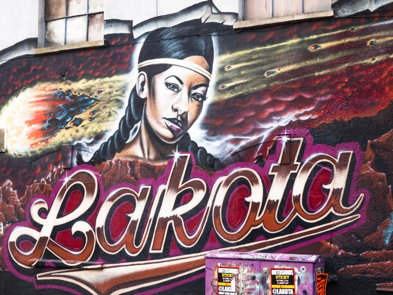 Stokes Croft Bristol England UK The Lakota Club sign