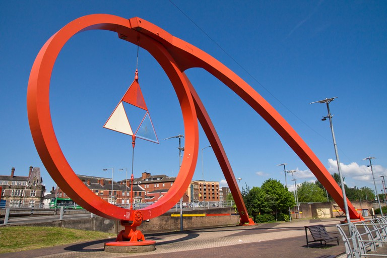 The Newport wave, Newport City in Wales, United Kingdom.