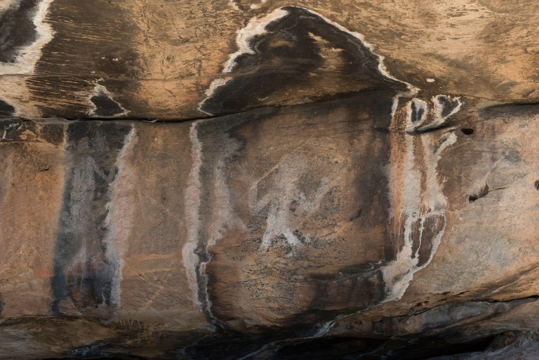 The Ngamadjidj (Cave of Ghosts) Shelter is an Aboriginal Rock Art site in the Grampians National Park (Gariwerd), Victoria, Australia