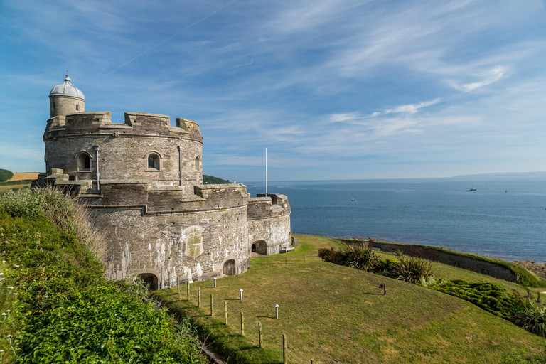 St. Mawes castle in Cornwall, England.