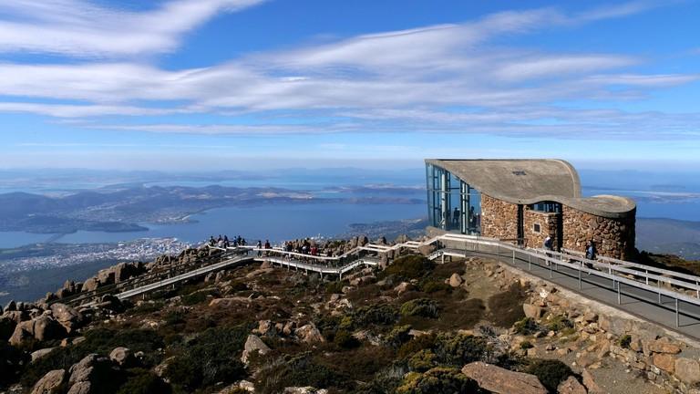 Wellington Park tasmania viewpoint on top of Mount Wellington in Tasmania