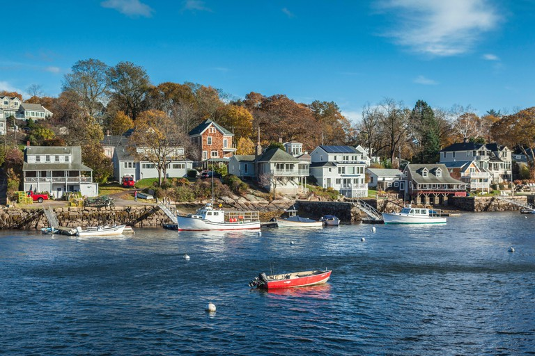 United States, New England, Massachusetts, Cape Ann, Gloucester, Annisquam Harbor, autumn
