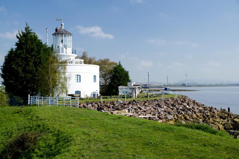 West Usk Lighthouse, Gwent Levels, Newport, Gwent, South Wales, United Kingdom.
