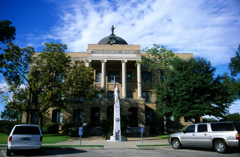 Williamson County Courthouse in Georgetown, Texas.