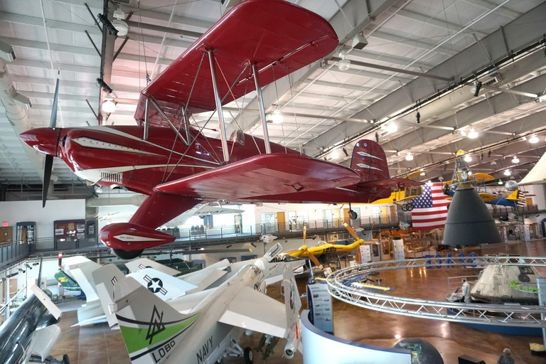 The main floor of the Frontiers of Flight Museum at Love Field in Dallas, Texas Photo by Dennis Brack