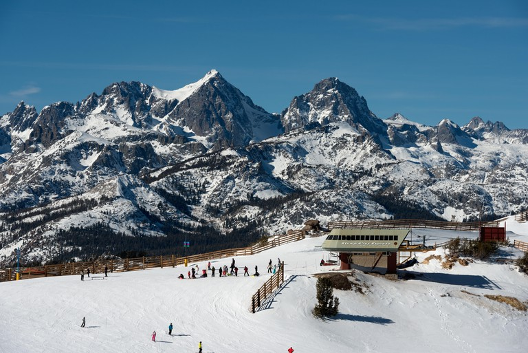 Ski lift area at Mammoth Lakes, California
