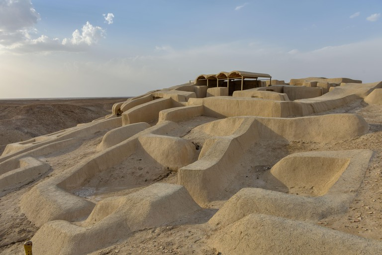 """Shahr-e Sukhteh (Persian: meaning """"The Burnt City""""), also spelled as Shahr-e Sukhte and Shahr-i Shokhta, is an archaeological site of a sizable Bronze Age urban settlement, associated with the Jiroft culture. It is located in Sistan and Baluchistan Provin"""