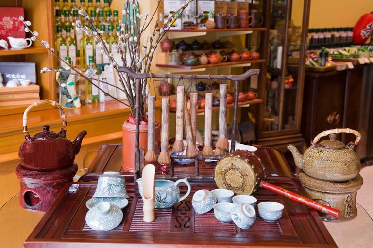 Treasure-Green Tea Store, Chinatown, Vancouver, British Columbia, Canada, North America