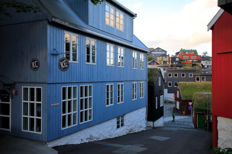 Katrina Christiansen Restaurant in Old Town (Tinganes) of Torshavn.Streymoy.Faroe Islands.Territory of Denmark