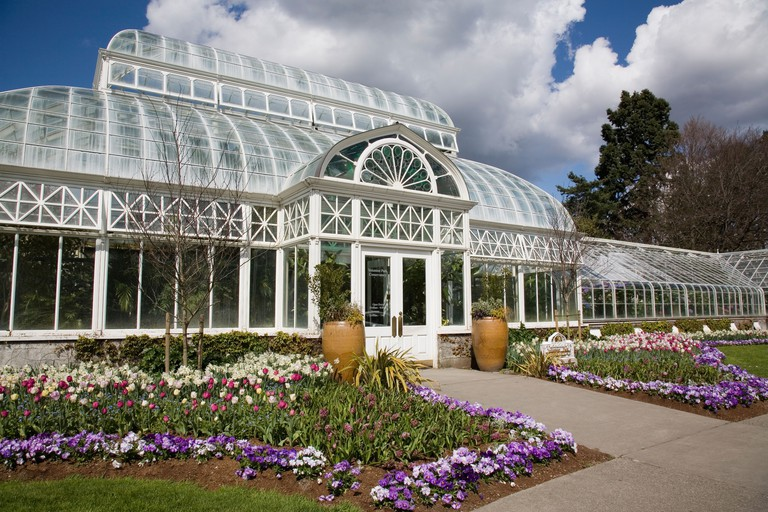 Volunteer Park conservatory built in 1910 Seattle Washington
