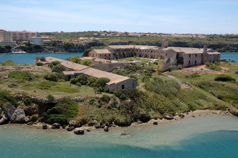 One of the oldest Royal Naval Hospitals in the world, on Isla del Rey in Mahon harbour, Menorca, Spain
