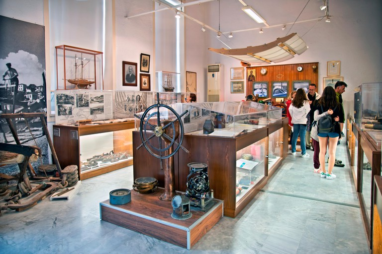 Inside the Maritime and Cultural Tradition Museum, in Bourdzi, Skiathos town, Skiathos island, Northern Sporades, Magnessia, Thessaly, Greece.