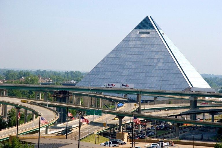 The Pyramid Arena in Memphis, Tennessee.