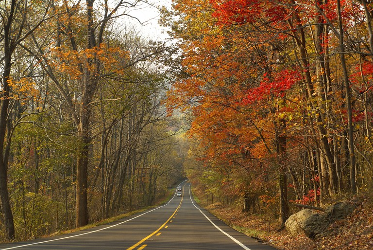 on the way to shenandoah national park