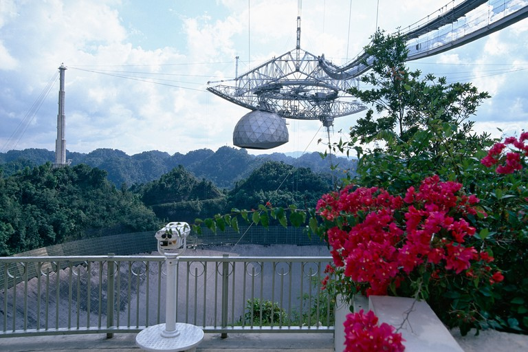 Observation Deck of the Arecibo Radiotelescope Puerto Rico. Image shot 2007. Exact date unknown.