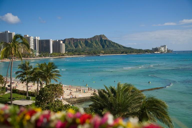 Waikiki Beach Diamond Head Oahu Hawaii