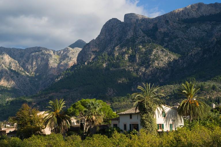 Mallorca the mountain town of Soller
