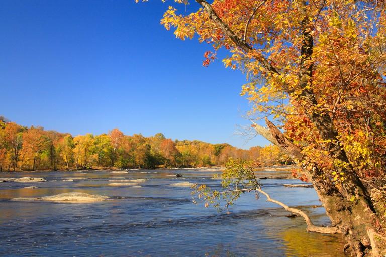 Potomac River, Harpers Ferry National Historic Park, Sandy Hook, Maryland, USA