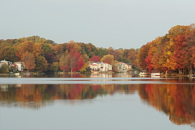 Fall on Lake Anne, Reston VA