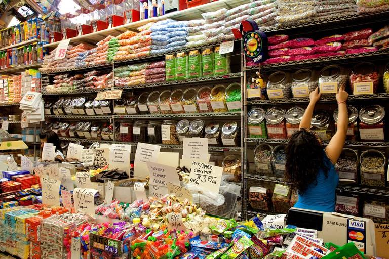 United States, New York City, Manhattan, Lower East Side, Rivington Street, Economy Candy shop