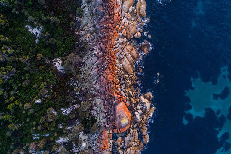 Aerial of Bay of Fires