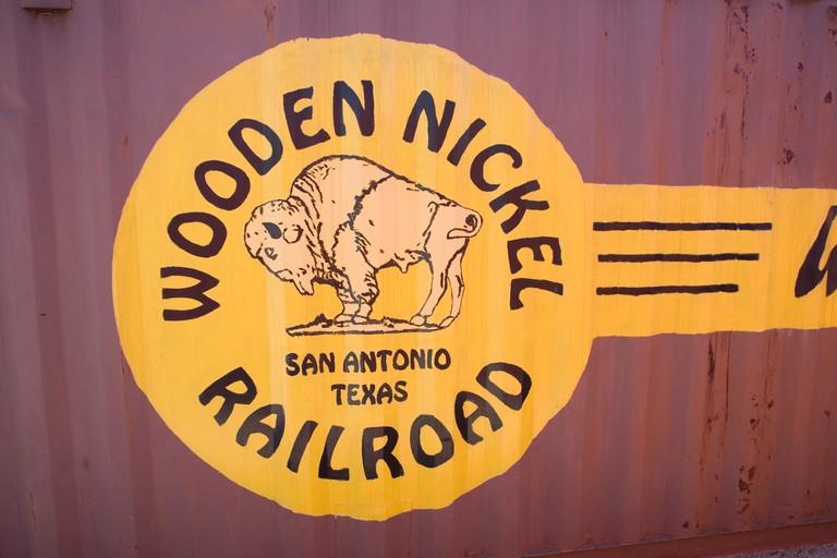 Wooden Nickel Museum Sign